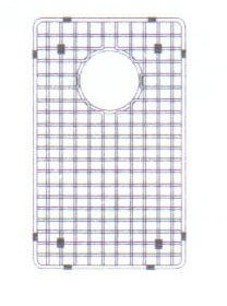 "Hamat  8 1/2"" x 15 1/2"" Bottom Grid / Wire Grate for Sink - Stainless Steel"
