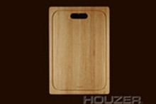 "Hamat 14"" x 20 1/4"" x 1"" Cutting Board for Apron Sink - Hardwood"