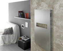 "Amba Elory Mars E 2130 P 21"" W x 30"" H x 3"" D European Towel Warmer & Space Heater - Polished Stainless"