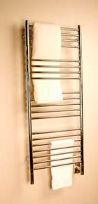 "Amba Jeeves DSP-20 Model D 20-1/2"" W x 52-3/4"" H Straight Electric Heated Towel Warmer -Polished Stainless"