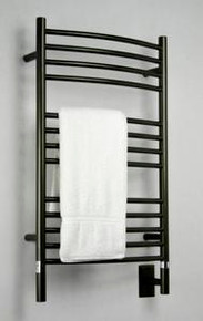 "Amba Jeeves CCO-20 Model C 20-1/2"" W x 36"" H Curved Electric Heated Towel Warmer - Oil Rubbed Bronze"