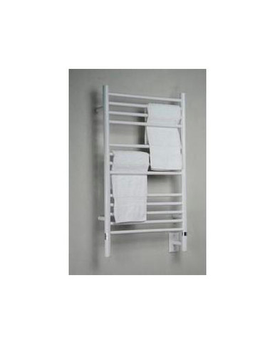"""Amba Jeeves CSW-20 Model C 20-1/2"""" W x 36"""" H Straight Electric Heated Towel Warmer - White"""