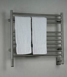"Amba Jeeves KSB-30 Model K 29-1/2"" W x 27"" H Straight Electric Heated Towel Warmer - Brushed Stainless"