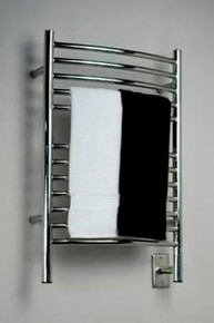 "Amba Jeeves ECP-20 Model E 20-1/2"" W x 31"" H  Curved Electric Heated Towel Warmer - Polished Stainless"