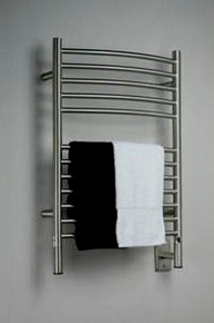 "Amba Jeeves ECB-20 Model E 20-1/2"" W x 31"" H  Curved Electric Heated Towel Warmer - Brushed Stainless"