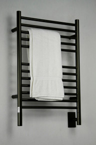 "Amba Jeeves ESO-20 Model E 20-1/2"" W x 31"" H  Straight Electric Heated Towel Warmer - Oil Rubbed Bronze"