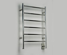 "Amba Jeeves JSB-20 Model J 20-1/2"" W x 31"" H Straight Electric Heated Towel Warmer - Brushed Stainless"