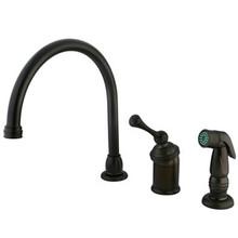 Kingston Brass Single Handle Kitchen Faucet & Side Spray - Oil Rubbed Bronze KB3815BLSP