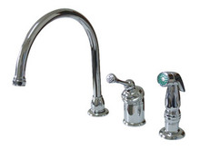 Kingston Brass Single Handle Kitchen Faucet & Side Spray - Polished Chrome KB3811BLSP