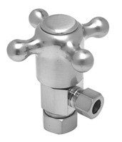 Mountain Plumbing MT4003X-NL/SC Cross Handle Angle Valve -  Satin Chrome