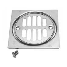 Mountain Plumbing MT231 SB Grid Shower Drain & Square Tile - Satin Brass