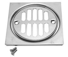Mountain Plumbing MT231 TB Grid Shower Drain & Square Tile - Tuscan Brass