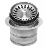 Mountain Plumbing MT202 PEW Extended Waste Disposer Flange + Stopper Strainer - Pewter