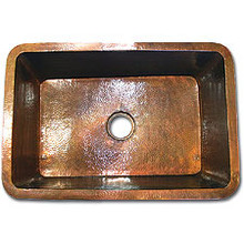 "Linkasink C061 WC 25"" X 20"" Copper Kitchen Undermount sink - Weathered Copper"