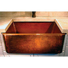 "Linkasink C060 WC 25"" X 20"" Farm House Kitchen Sink - Weathered Copper"