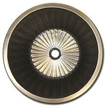 "Linkasink BR008 AB 17"" Bronze Flat Bottom Fluted Undermount or Drop In Lav Sink - Antique Bronze"