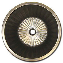 "Linkasink BR008 WB 17"" Bronze Flat Bottom Fluted Undermount or Drop In Lav Sink - Satin Nickel"