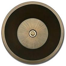 "Linkasink BR007 P 17"" Bronze Flat Bottom Undermount or Drop In Lav Sink - Polished Nickel"