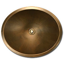 "Linkasink BR005 AB 18.5"" x 15"" x 7"" Bronze Oval Undermount or Drop In Lav Sink - Antique Bronze"