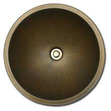 "Linkasink BR003 AB 17"" Bronze Large Undermount or Drop In Lav Sink - Antique Bronze"