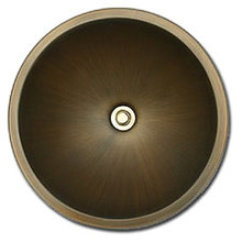 """Linkasink BR001 P 13 3/4"""" Bronze Small Undermount or Drop In Lav Sink - Polished Nickel"""