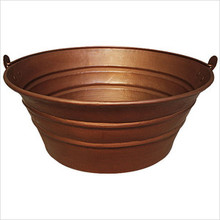 "Linkasink C049 SN Bucket 17"" Vessel Copper sink - Satin Nickel"