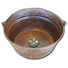 "Linkasink C049 DB Bucket 17"" Vessel Copper Sink - Dark Bronze"