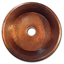 """Linkasink C016 DB 2"""" Drain Small Flat Bottom 16"""" X  7"""" Lav Copper sink - Dark Bronze"""