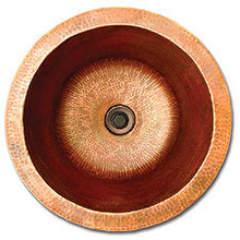 "Linkasink C002 DB 16"" x 8"" Large Copper Lav sink - Dark Bronze"
