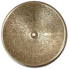 "Linkasink B006 WB 17"" Bronze Brocade Bowl Vessel or Drop in Sink - White Bronze"