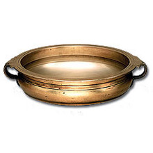 "Linkasink B001 WB 19"" x16"" Bronze Bowl Vessel Sink with Handles - White Bronze"