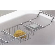 Valsan Essentials 53405NI Adjustable Bathtub Caddy-Rack-Polished Nickel
