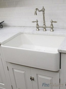 "Fine Fixtures FC2418SU Sutton Butler Fireclay Kitchen Sink - White - 23 1/2"" x 19"""