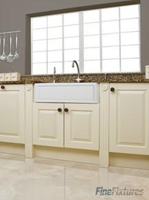 """Fine Fixtures FC3018SA Savoie Fireclay Farmhouse Kitchen Sink - White - 28 3/4"""" x 19 1/2"""""""