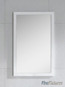 "Fine Fixtures MR22WH 21 5/8"" x 33 1/2"" Wall Mirror  - White Matte Frame"