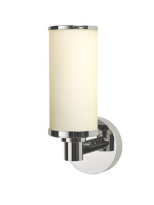 Valsan 30964NI Porto Bathroom Single Wall Light - Polished Nickel