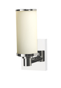 Valsan 30966NI Braga Bathroom Single Wall Light - Polished Nickel
