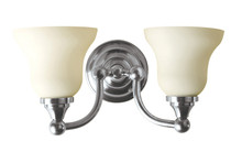 Valsan 30969NI Kingston Bathroom Double Wall Light - Polished Nickel