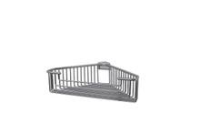 "Valsan 53445ES Essentials Large Deep Detachable Corner Basket 12"" x 9 3/4"" x 3 1/4""  - Satin Nickel"
