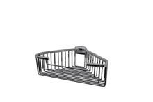 "Valsan 53546ES Essentials Large Deep Detachable Corner Basket w Square Rungs 9 3/4"" x 9 3/4"" x 3 1/4"" - Satin Nickel"