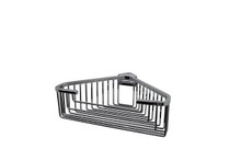 "Valsan 53546NI Essentials Large Deep Detachable Corner Basket w Square Rungs 9 3/4"" x 9 3/4"" x 3 1/4"" - Polished Nickel"