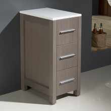 "Fresca FST6212GO Torino Bathroom Linen Side Cabinet 12"" W x 28 1/8"" H - Gray Oak"