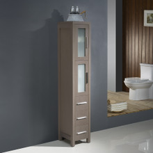 Fresca FST6260GO Torino Tall Bathroom Linen Side Cabinet - Gray Oak