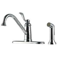 Price Pfister LG34-4PC0 Parisa Single Handle Kitchen Faucet with Side Spray & Pfast Connect Technologies - Polished Chrome