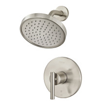 Price Pfister LG89-7NCK Contempra Shower Faucet Trim with Single Function Rain Shower Head - Brushed Nickel