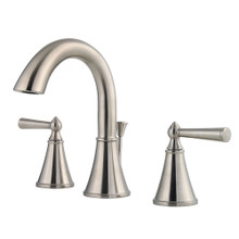 Price Pfister LG49-GL0K Saxton Two Handle Widespread Bathroom Faucet with Metal Pop-Up Drain - Brushed Nickel