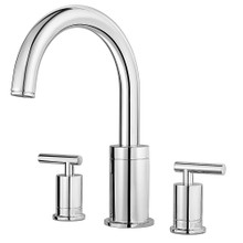 Price Pfister RT6-5NCC Contempra Deck Mounted Roman Tub Faucet Trim with Metal Lever Handles - Polished Chrome