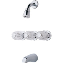 Price Pfister LG01-1120 Three Handle Tub and Shower Faucet & Rough-In - Chrome