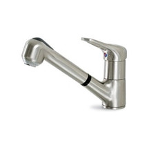 Hamat 3-0361-ST Single Lever Pull-out Spray Kitchen Faucet - Stainless Steel