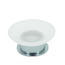 Valsan Pombo Scirocco Freestanding Soap Dish Holder - Satin Nickel